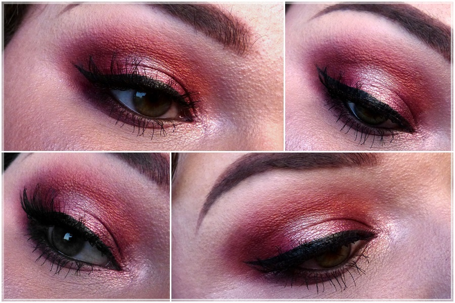 red smokey eye makeup