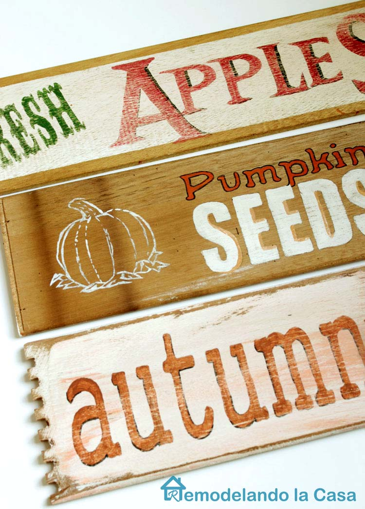 Fall Decor With Diy Fall Signs Remodelando La Casa