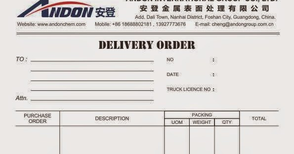 Delivery Order Form Food Order Delivery Form Pdf Template Delivery