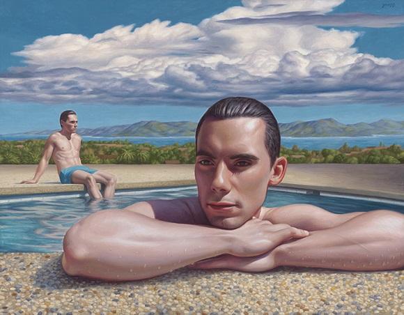 "por Alex Gross - ""Thunderhead"", 2017. | obras de arte contemporaneo, pinturas figurativas, art pictures inspiration, imagenes bellas"