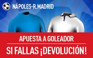 sportium promocion Napoles vs Real Madrid champions 7 marzo