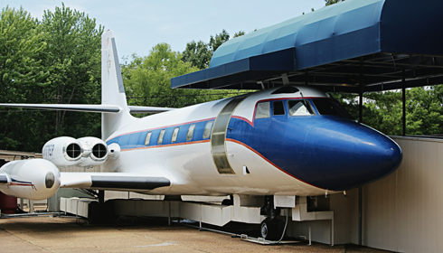elvis presley airplanes graceland
