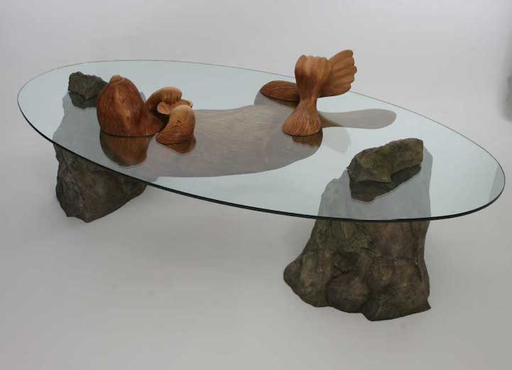 Stunning Coffee Tables That Portray 'Floating' Animals