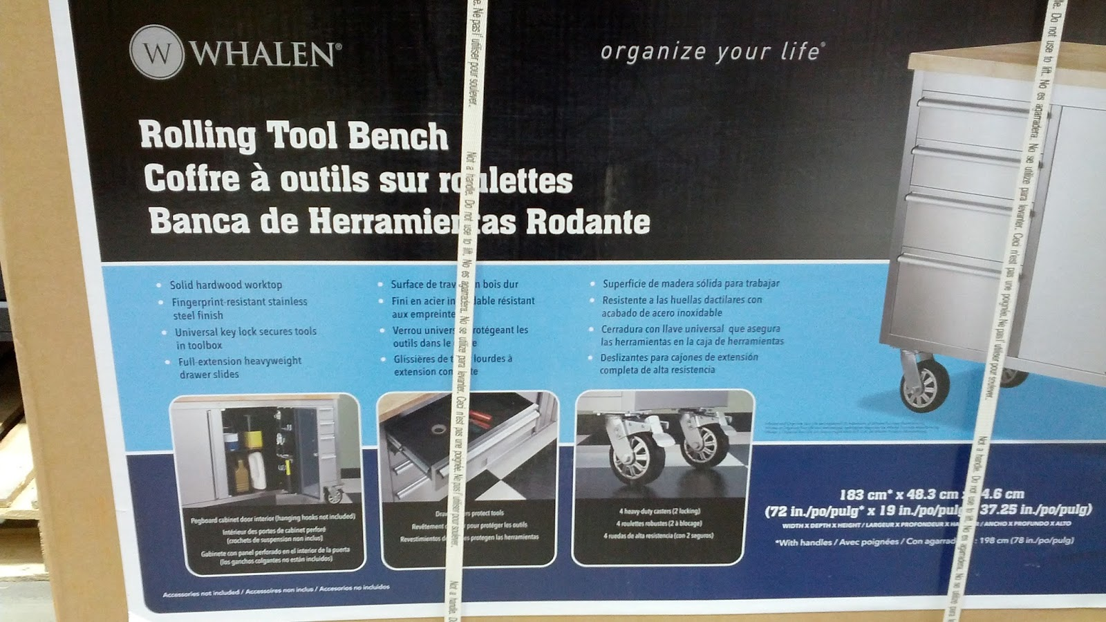 Whalen Rolling Tool Bench And Storage Mobile Tool Box