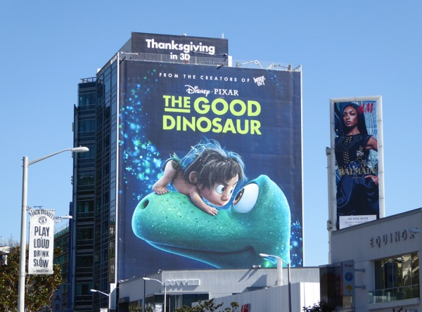 Good Dinosaur giant movie billboard