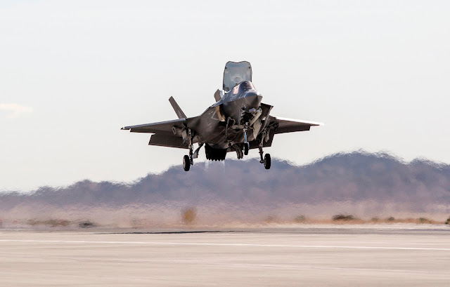 F-35B of USAF Vertical Landing