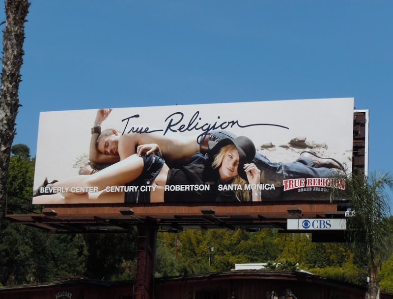 True Religion Candice Swanepoel billboard
