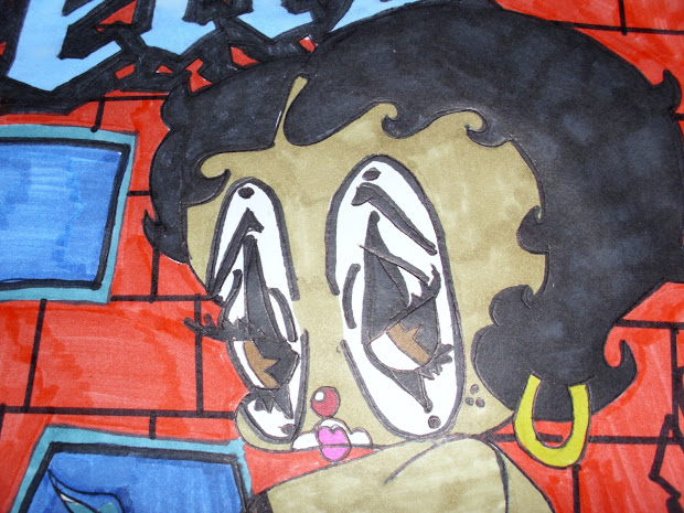Betojimenezartportfolio Betty Boop Chola Joker Drawing