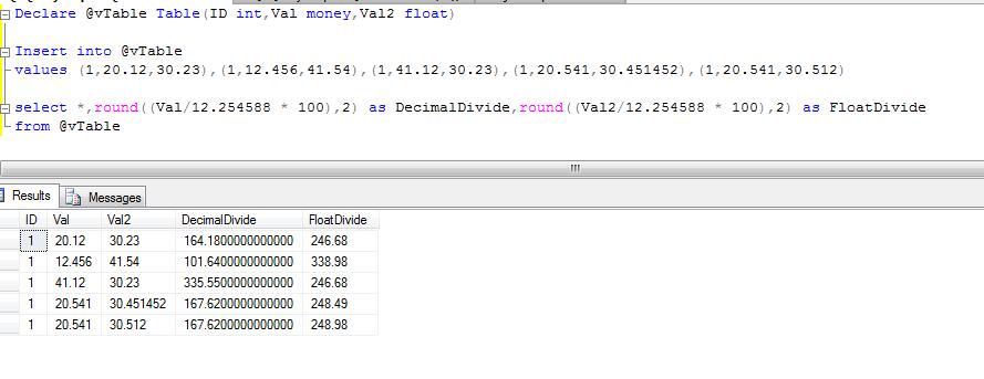Sql Server knowledge sharing blog: Truncate Extra 0's after 2 Decimal Points