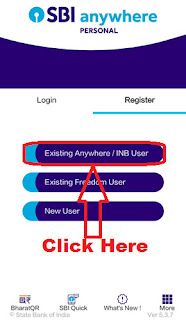 how to register sbi anywhere personal