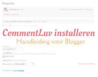CommentLuv installeren - handleiding voor Blogger