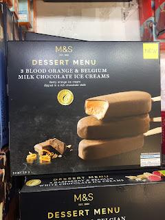 Dessert Menu Blood Orange & Belgium Milk Chocolate Ice Creams