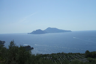 Capri as seen from Murat's villa on the Sorrentine peninsula