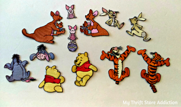 Winnie the Pooh character appliques