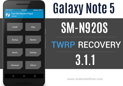 TWRP Recovery for Galaxy Note 5 SM-N920S