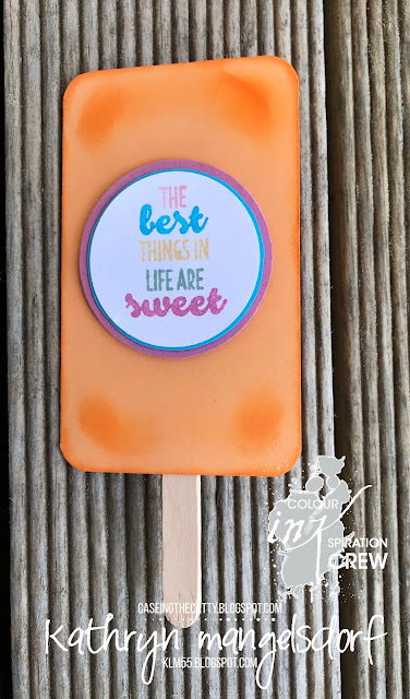 Stampin' Up! Suite Sentiments, Ice block Card created by Kathryn Mangelsdorf