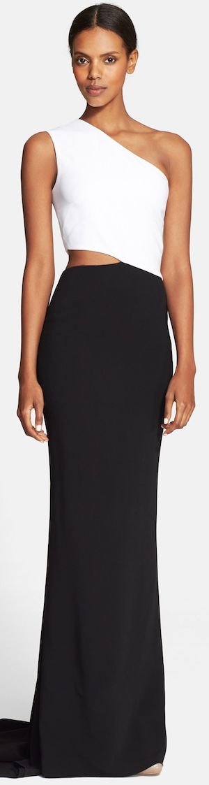 Stella McCartney Side Cutout One-Shoulder Gown