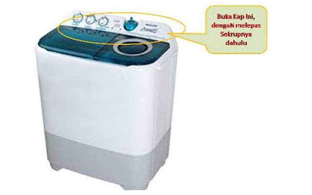 Cara Memperbaiki Pengering Mesin Cuci 2 Tabung Yang Tak Berputar