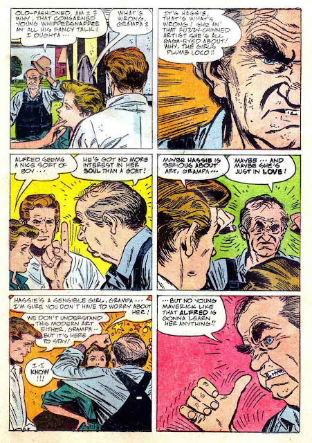 Real McCoys / Four Color Comics #1134 dell comic book page art by Alex Toth