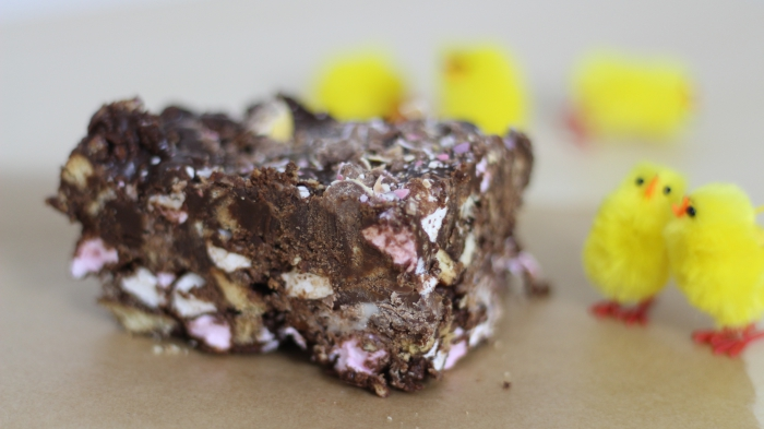 Easter Rocky Road recipe mini egg creme egg