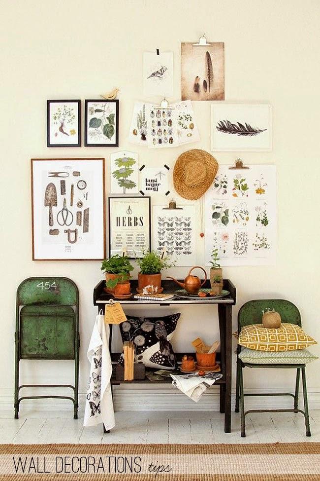 Decorare una parete con i quadri home shabby home for Home arredamento