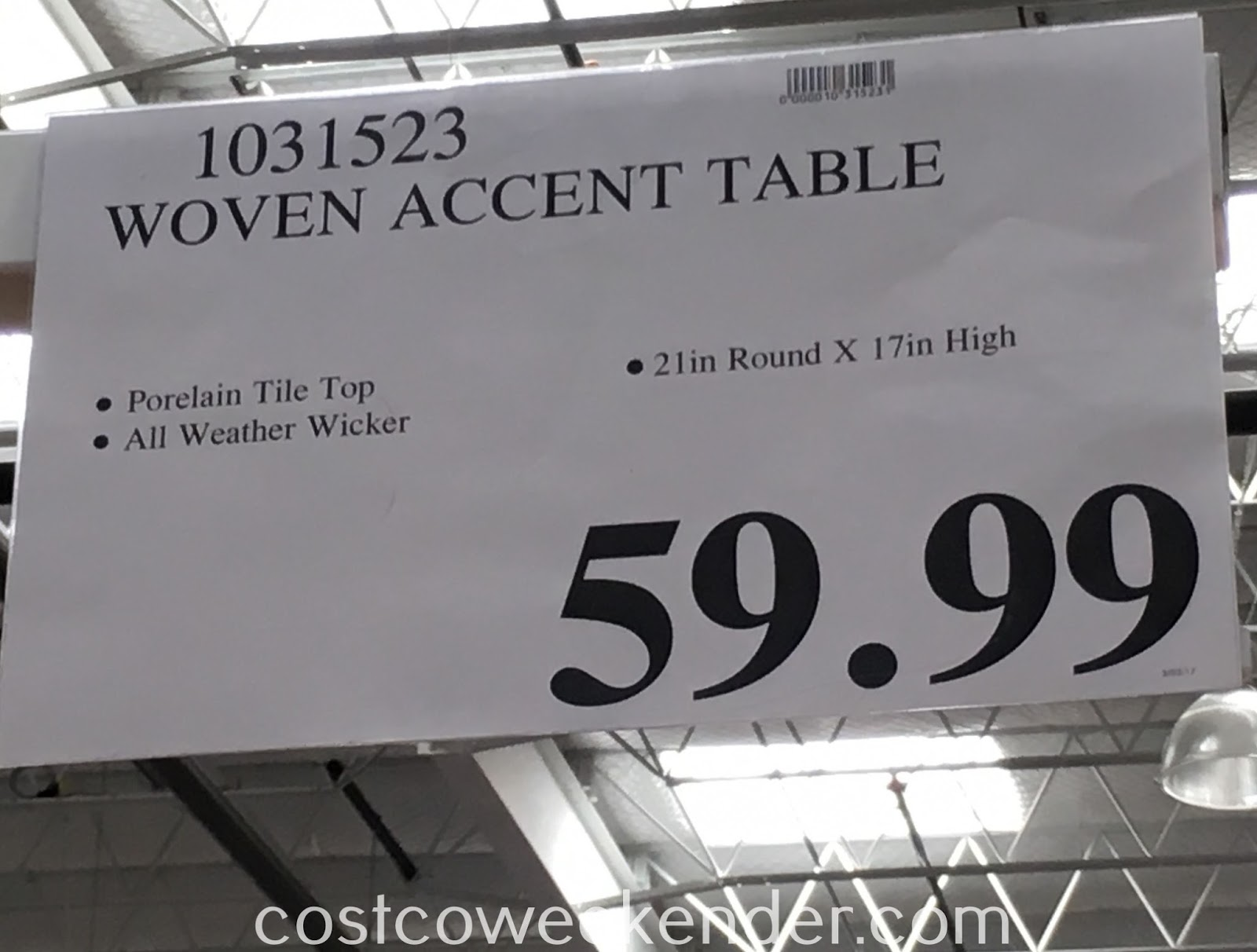 Deal for the Woven Accent Table at Costco