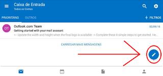 Como mandar um email pelo celular usando Hotmail