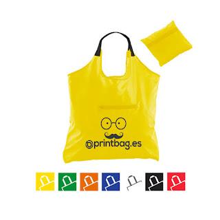 Bolsas plegables con cierre amarilla