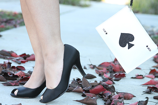 Steve Madden Black Satin Heels and Kate Spade Wristlet
