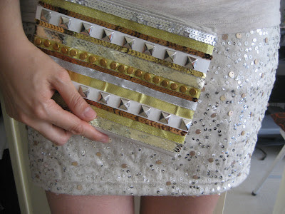 DIY Bolso metalizado. Metallic clutch. Sac metallisé