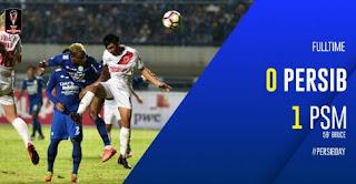 Kalah  0-1 dari PSM, Persib Gagal Total di Piala Presiden 2018