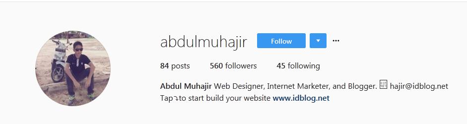 Instagram Abdul Muhajir