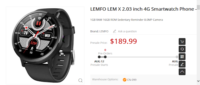LEMFO LEM X 4G Smartwatch Specs, Price, Features