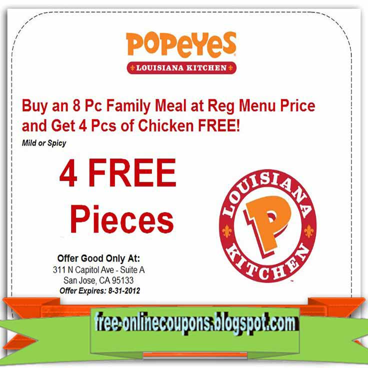 photograph regarding Popeyes Coupons Printable referred to as Popeyes hen coupon codes printable