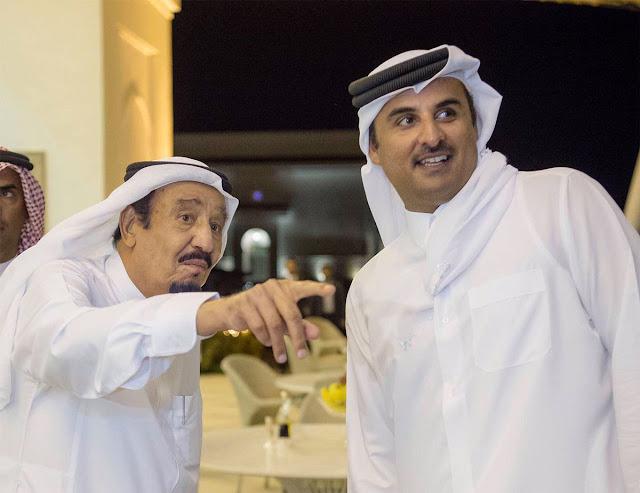 رسالة مفاجئة من أمير قطر إلى ملك السعودية, تفاصيل ما جاء فيها