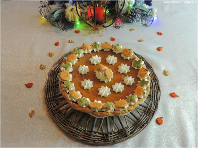 Postre Cena de Acción de Gracias 2017: Tarta de Calabaza