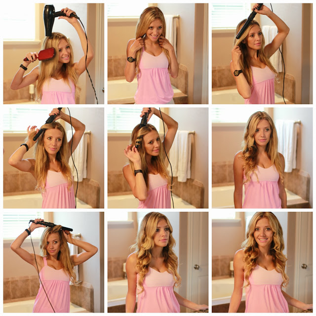 Easy Quick Hairstyles Tutorial For Long Curl Hair