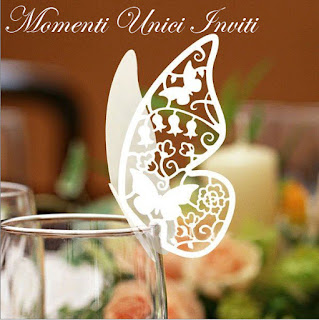 farfalla+segnaposto Un piccolo assaggio dell'allestimento della sala da pranzo di NadiaAvvisi - Novità