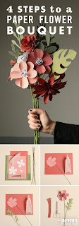 Brighten up any room with this paper flower bouquet DIY