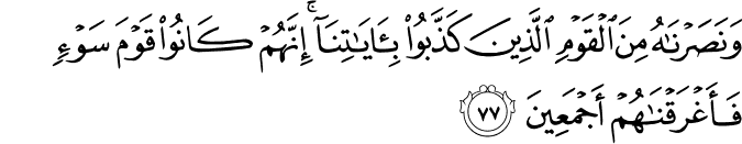Surat Al Anbiya Ayat 77