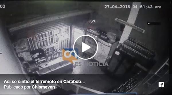 Terremoto de esta mañana quedó grabado en esta cámara de seguridad