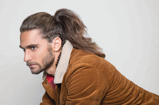 Corte de cabelo Rabo de cavalo + trança masculina_Patricia Canola