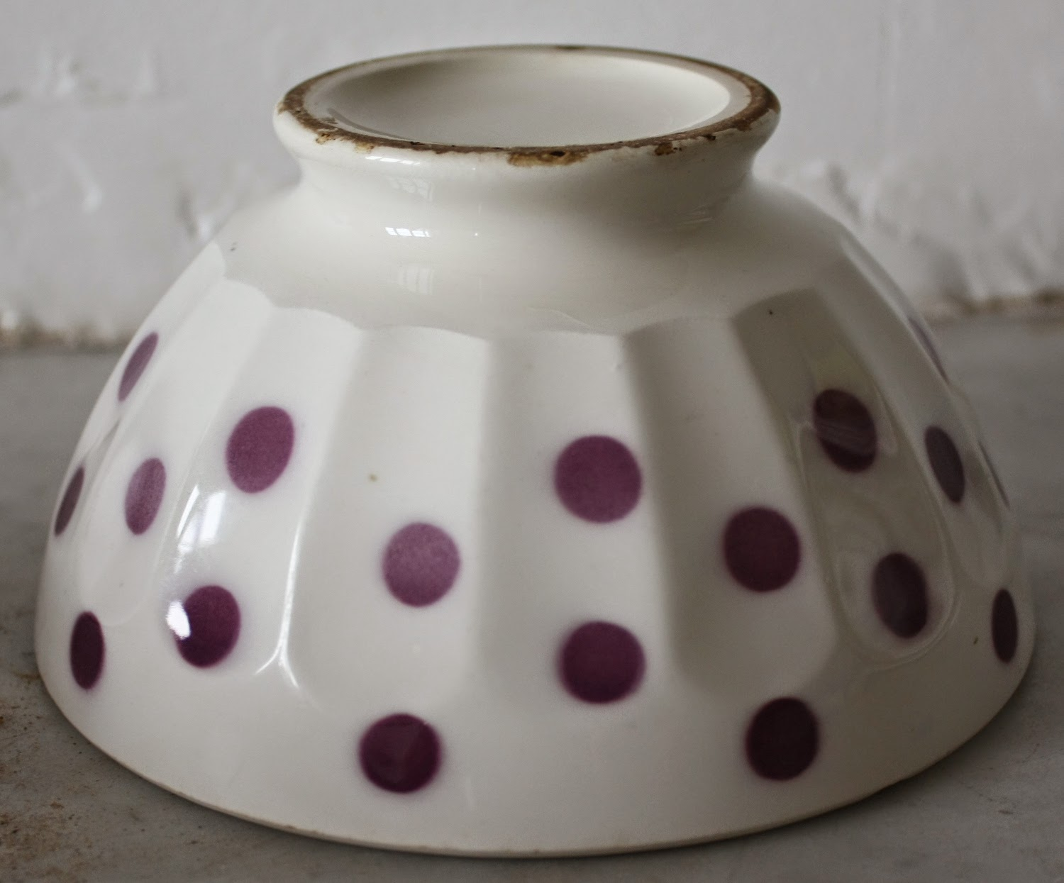 Garage Sale Dots Yard Sale Finds Sold On Ebay French Cafe Au Lait Bowl Coffee