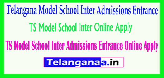 TSMS Telangana TS Model School Inter Admissions Entrance 2018 Online Apply