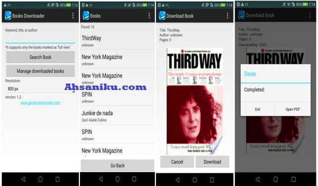 Download Buku di Google Book Di Android