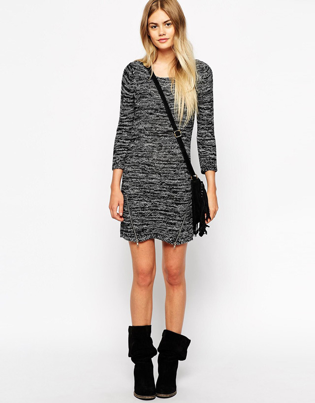 Grey dress and ankle boots