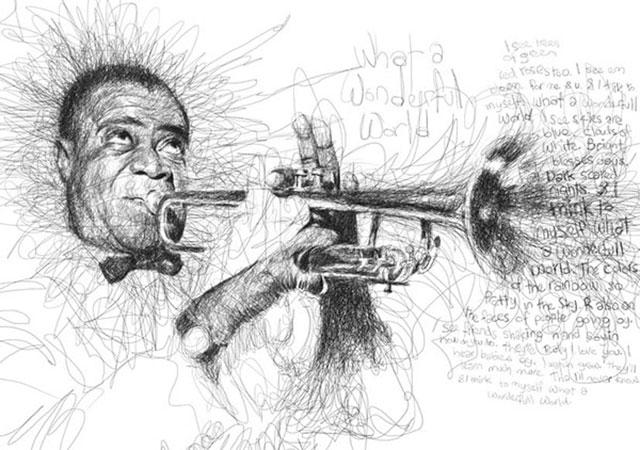 Vince Low, La Dislexia y El Arte del Garabato Louis Armstrong