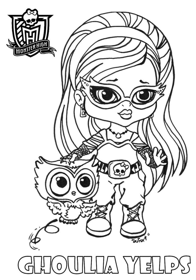 Monster High lovers: desenhos para colorir(baby)