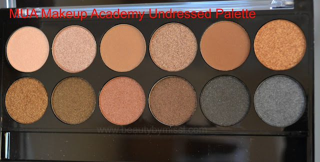 MUA Makeup Academy Undressed Palette review