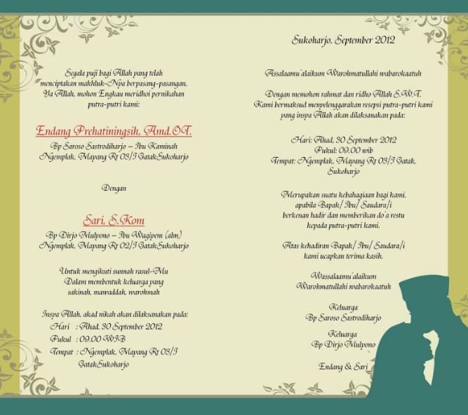 Contoh Undangan Pernikahan Contoh Undangan Pernikahan Bahasa Jawa Krama